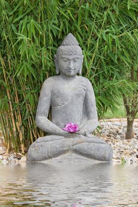 Entspannung im Garten Buddha's