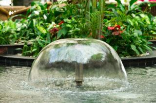 Eine optimal auf die Teichgröße abgestimmte Wasserglocke