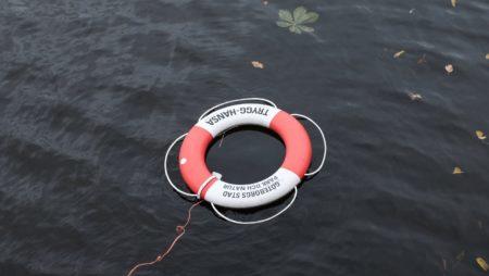 Schnelle Hilfe am Teich