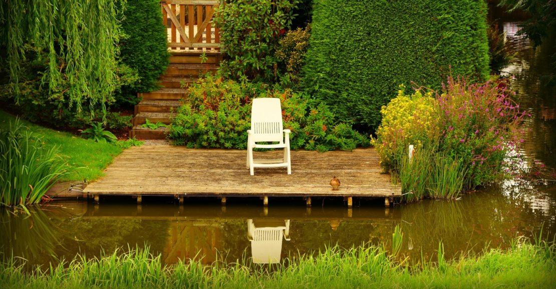 Trennung von Schwimmbereich und Pflanzen